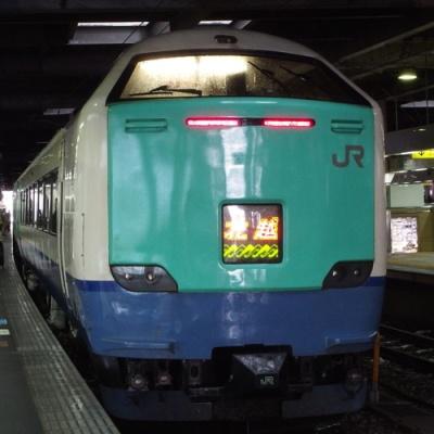 JR_hokuetsu_485 at Kanazawa Stn.