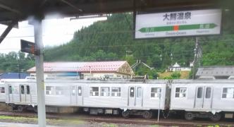 弘南鉄道の旧東急車と出会う。
