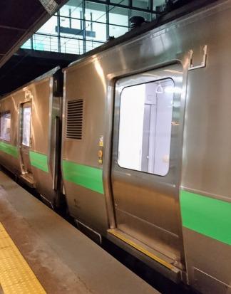 今回の初列車。北海道様式