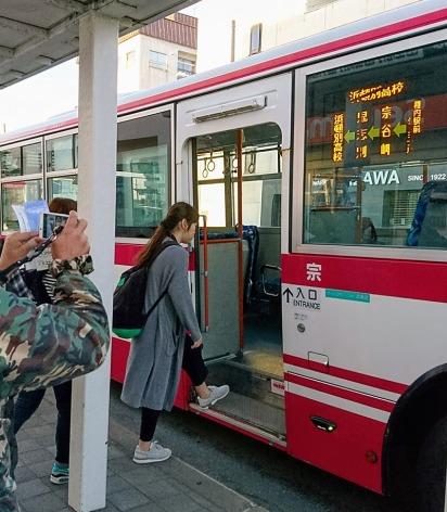 バスは普通。