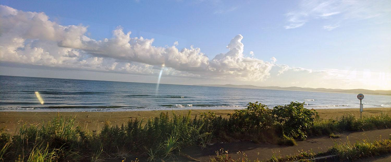 朝日が眩しい宗谷海峡
