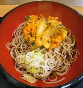 かき揚げ蕎麦(仙台駅)