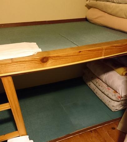 この下段が本日の寝床