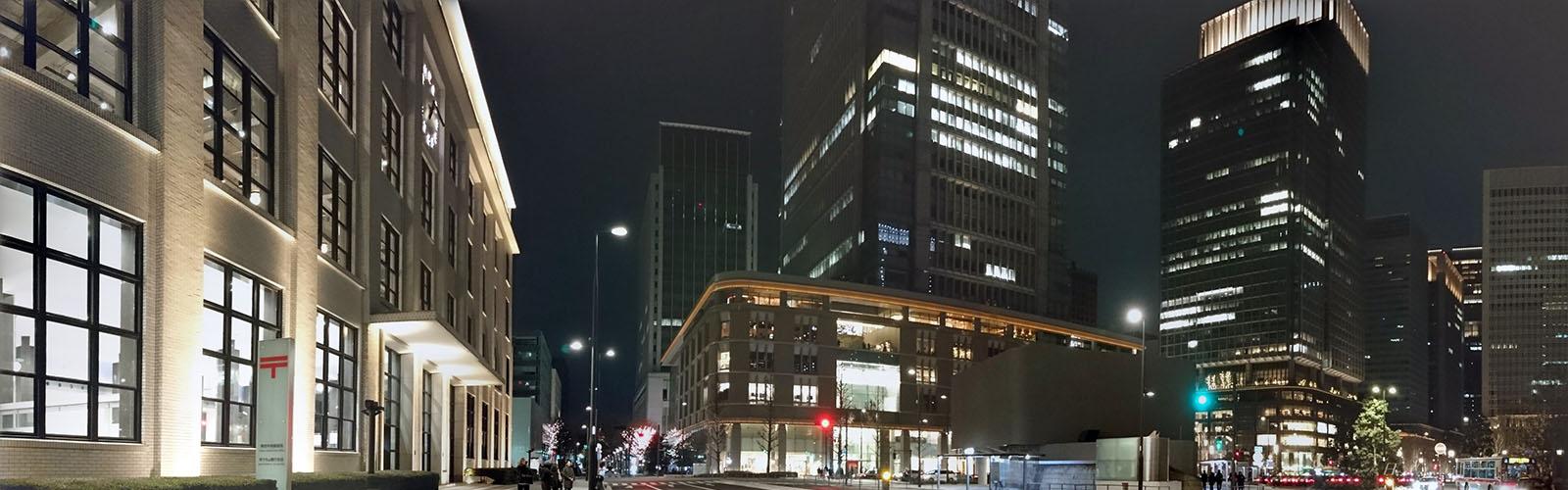 2018_正月明けの丸の内ビル街