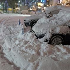 雪かき・・