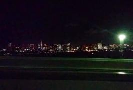 遠目に東京タワー
